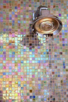mosaique intéressante pour la douche