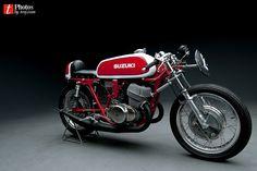 vintage Suzuki T500 Titan café racer