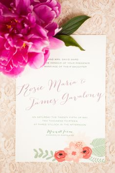 enchanted garden wedding invite from little bit heart  http://www.weddingchicks.com/2013/10/18/colorful-garden-wedding-ideas-2/