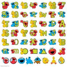 Sesame Street® Font - Sesame Street - Licensed Designs - Cartridges & Images