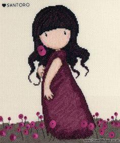 Gorjuss - Pink Poppy - Cross Stitch Kit from Bothy Threads