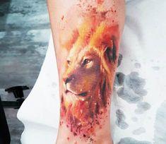Lion tattoo by Adam Kremer