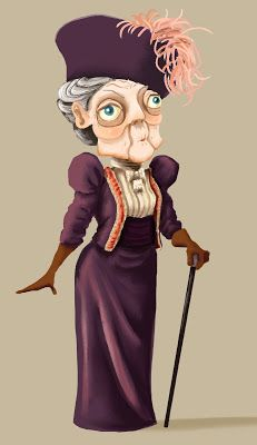 Downton Caricatures Lady Dowager