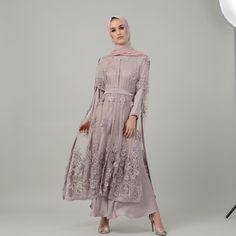 "MIRAGE by numra di Instagram ""Mauve Embellished Cape Dress | Last few pieces available online. #miragebynumra #embellished"" Dress Brokat Muslim, Dress Pesta, Muslim Dress, Kebaya Brokat, Kebaya Hijab, Kebaya Dress, Kebaya Muslim, Hijab Evening Dress, Hijab Dress Party"