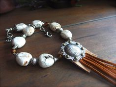 Western Jewelry Cowgirl Necklace White by TheCrystalCorral on Etsy