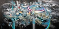 Virtual Museum, best of contemporary visual art, page 33 Psychedelic Experience, Psychedelic Art, Graffiti Murals, Virtual Museum, Pictures Online, Pop Surrealism, Visionary Art, Heart Art, Surreal Art