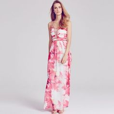 Little Mistress Pink floral embellished strap maxi dress- at Debenhams.com