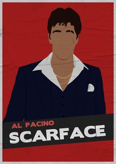 Scarface (1983) ~ Minimal Movie Poster by Adriano Defendi #amusementphile