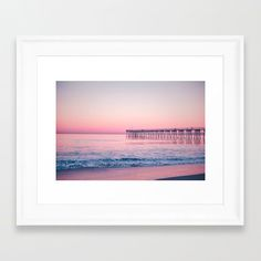 Pink Beach Sunset Framed Print by Lisaliza | Society 6   #Framedprints #Homedecor #Framedprintbedroom #Gifts   #Framedprintsonwall #Onwall #Wallart #Modern  #society6Frameprints #society6  #geometry #abstract #circle #waves #typography #pink #calm #zen #modern   #elegant #adventure #beach #sea #wild  #mysterious #free #beach #sunset #landscape