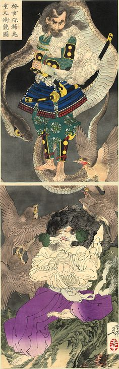 Kuniyoshi the serpent