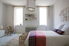 Before & After: A French-Inflected Townhouse Renovation in Williamsburg, Brooklyn - Remodelista Best Bedding Sets, Bedding Sets Online, Benjamin Moore, Home Bedroom, Bedroom Decor, Master Bedroom, Bedrooms, Mediterranean Bedroom, Mediterranean Style