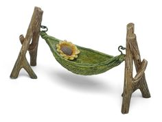 My Fairy Gardens Mini - Daisy Hammock - Miniature Supplies Accessories Dollhouse by MyFairyGardensShop on Etsy https://www.etsy.com/listing/593705499/my-fairy-gardens-mini-daisy-hammock
