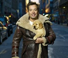 ♡ Jimmy Fallon with a puppy. It doesn't get any cuter than that.