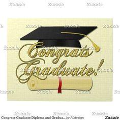 Congrats Graduate Diploma and Graduation hat Puzzle by #PLdesign #Graduation #GraduationGift #CongratsGraduate