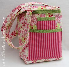 Sarah's Little Snippets: Fabric Tote Bag (handmade)