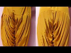 Heavy patiala salwar cutting and stitching Patiala Pants, Patiala Salwar Suits, Churidar, Punjabi Suits, Kurti Sleeves Design, Sleeves Designs For Dresses, Back Neck Designs, Blouse Neck Designs, Frocks For Babies