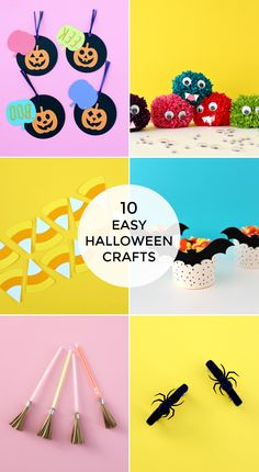With Halloween only a few short weeks away, you're probably looking for some craft ideas, and I have them right here for you. Check out these 10 easy Hal Easy Halloween Crafts, Easy Crafts, Garden Projects, Craft Projects, Craft Ideas, Favorite Candy, Candy Corn, Kids Playing, Holiday Decor
