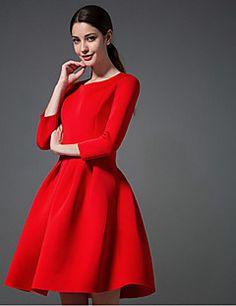 temperamento algodón huiguniang vestido de gran patio – USD $ 24.99