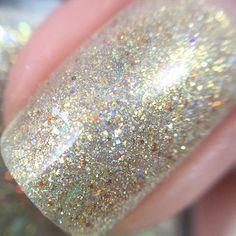 """#Repost @polishedteacher ・・・ #macro of """"Immortals"""" from the Fall Out Foxes collection by @frenzypolish I wish pictures could show how sparkly this polish is! It is stunning! Review of the entire collection is on the blog now! Link is in my bio.  #frenzypolish #frenzyfans #frenzyfoxes"""