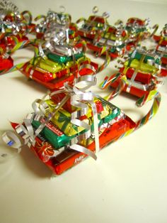 """Christmas """"sleighs""""---A great gift for teachers, neighbors, coworkers, etc"""