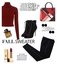 """""""Fall sweater"""" by anilia ❤ liked on Polyvore featuring A.L.C., COSTUME NATIONAL, Burberry and fallsweater"""