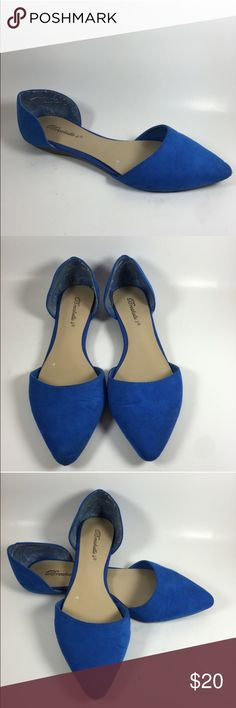 Blue suede flats Blue suede flags by Breckelles. Never worn! Breckelles Shoes Flats & Loafers