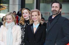 January Jones, Jon Hamm, Christina Hendricks y Elisabeth Moss... con mucho estilo en la despedida de la serie Mad Men