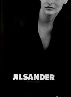 Linda Evangelista by Peter Lindbergh for Jil Sander Fall 1994 ad campaign