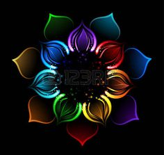With radiant p talos of a lotus flower, painted sparkles sparkling on a black background photo