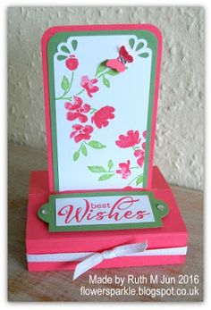 Flower Sparkle: Painted Petals Free Standing Pop Up Card 3d Cards, Pop Up Cards, Stampin Up Cards, Birthday Sentiments, Happy Birthday Cards, Fancy Fold Cards, Folded Cards, Squash Card, Strawberry Slush