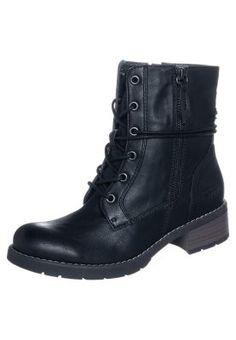 Schnürstiefeletten - schwarz Service Client, Combat Boots, Toms, Fashion, Moda, La Mode, Combat Boot, Fasion, Fashion Models