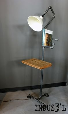 Rustic Industrial Pipe Floor Lamp | Playa Del Carmen Rustic Industrial Lamps & Furniture