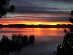 atardecer lake tahoe South Lake Tahoe, Lago Tahoe, Celestial, Sunset, Outdoor, Lakes, St Louis, Waterfalls, Islands