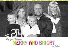 Custom - Photo Christmas Card  - JPEG Digital File - (5 x 7 template) 2012-6. $17.00, via Etsy.