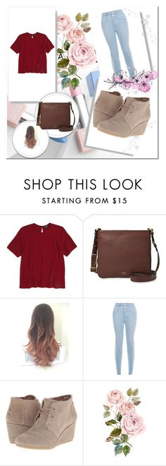 """""""Untitled #74"""" by sadiecoda on Polyvore featuring Topshop, FOSSIL, New Look, TOMS, Sephora Collection and Karlsson"""