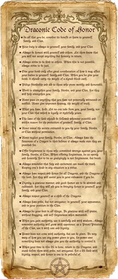 Code of my life - Pinned by The Mystics Emporium on Etsy Wicca Witchcraft, Wiccan, Breathing Fire, Dragon Art, Book Of Shadows, Mythical Creatures, Occult, Dungeons And Dragons, Celtic