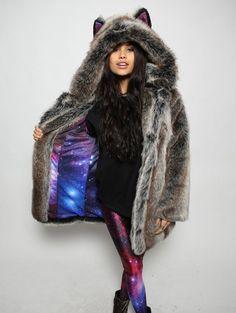 SpiritHoods - Grey Wolf Galaxy Jacket