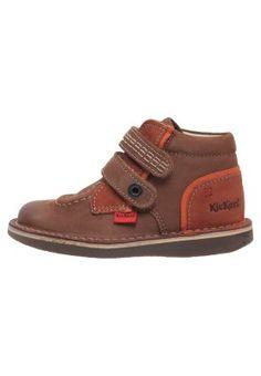 WAPA - Chaussures à scratch - marron/orange