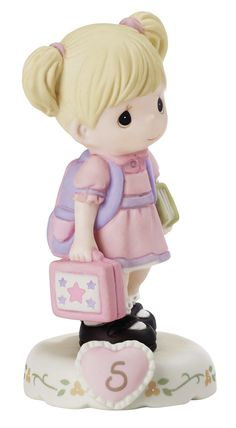 Features:  -Bisque porcelain figurine is expertly hand painted.  -In her five short years, you have taught her so much. And now she heads off to school to learn exciting new things from her kindergart