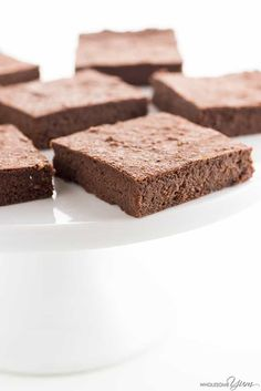 The Best Chocolate Avocado Brownies Recipe - Healthy & Fudgy - The easiest, best chocolate avocado brownies recipe - SUPER FUDGY! You'll never guess they are low carb, keto, sugar-free, gluten-free and even paleo.