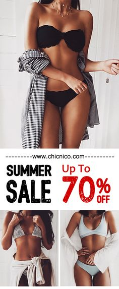 Summer Sale Up to 70% Off! Chicnico Gypsy Two Piece Floral Print Bikini Set
