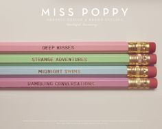 What Life Is For Pencils.  Set of 4. Pastel di MissPoppyDesign, $8.00