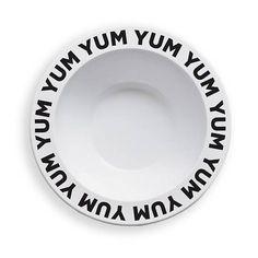 Melamine bowl yum yum black
