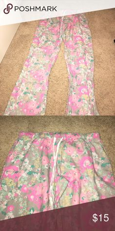 Floral pjs Soft & comfy. Not Victoria Secret but tagged for exposure PINK Victoria's Secret Intimates & Sleepwear Pajamas