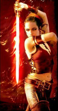 fantasy art, girl with glowing fire sword Fantasy Warrior, Fantasy Girl, Chica Fantasy, Fantasy Rpg, Fantasy Women, Fantasy Artwork, Dark Fantasy, Fire Warrior, Warrior Princess