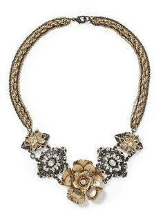 Sabine Two-Tone Flower Necklace | Piperlime This will be great with so  many of the Cabi fall pieces!