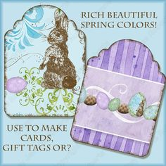 Elegant Easter AJR294 ATC sized shaped gift by AudreyJeanneRoberts, $4.95