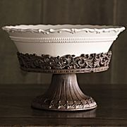 Forét Pedestal Bowl and Stand by Chris Madden & Artimino Tuscan Countryside Cream Dinnerware | For the Home ...