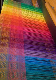 One of the joys of weaving is how color interacts in the cloth. When weft yarns cross the warp, it changes the apparent color of the warp, sometimes quite dramatically.This interaction is a result of the warp and weft alternating between being on top of the fabric and below it. This creates tiny dots and[Read More]