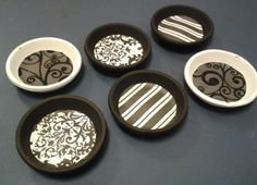 Coasters I made from terracotta pot bases! :]